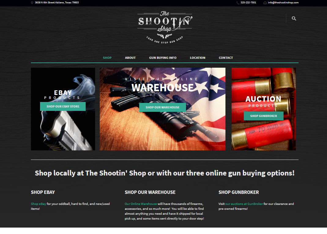 The Shootin Shop Website