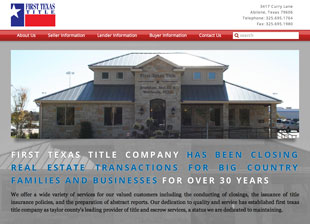 Web design and development project for First Texas Title